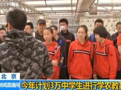 北京今年计划3万中学生进行学农教育
