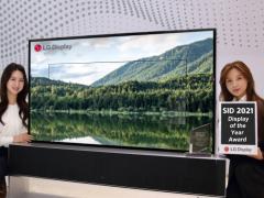 """LG Display可卷曲OLED电视获SID 2021""""年度显示""""奖"""